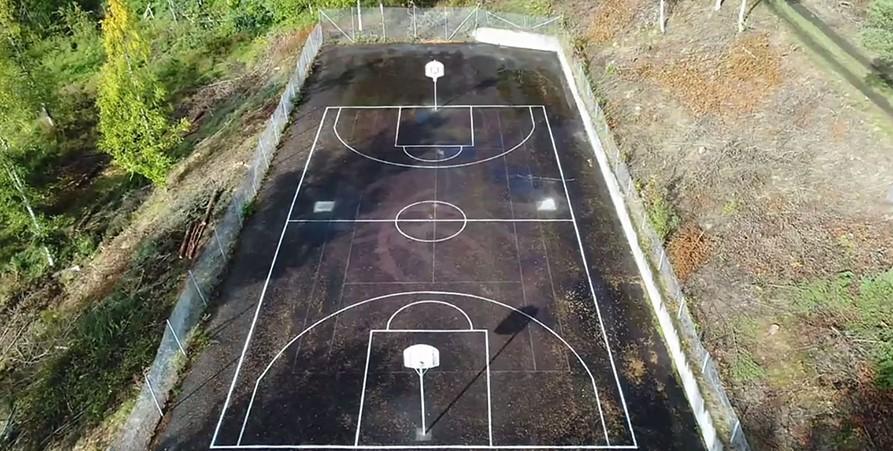 Basketplan Vilhelmina (nedanför Hotell Wilhelmina)