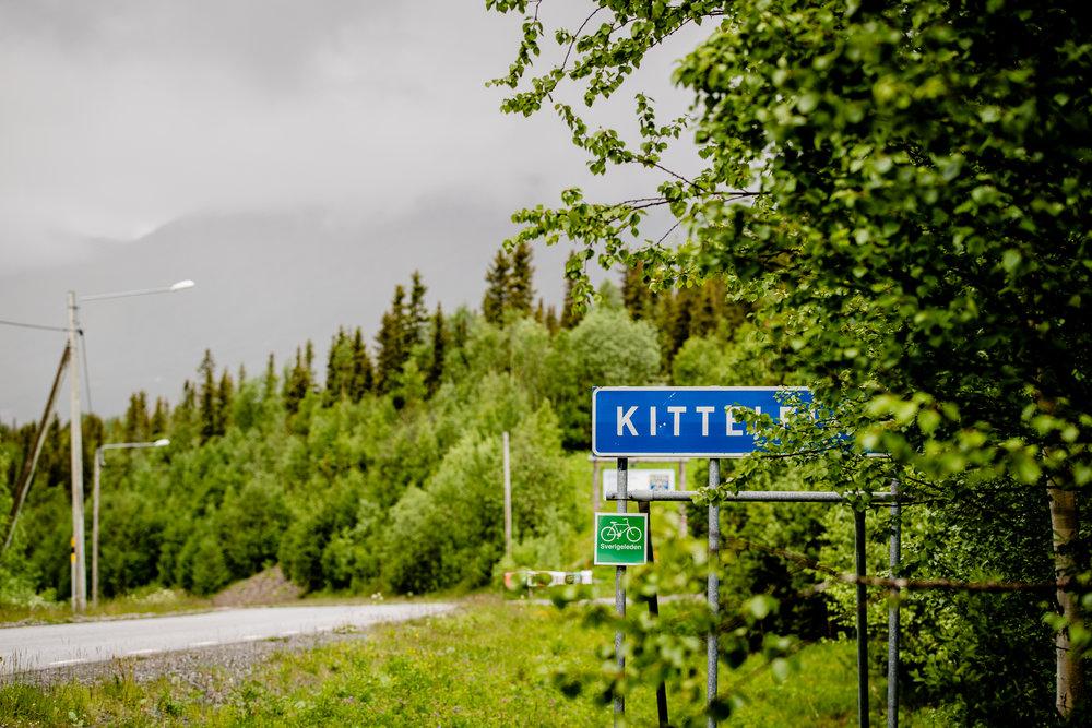 Kittelfjällskylt Sagavägen