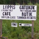 Helens Gårdsbutik och Café Loppis och Gatukök i Bränna Skylt vid vägen