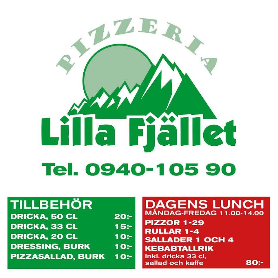Pizzeria Lilla Fjället Meny