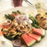Pizzeria Lilla Fjället Tallrik med mat
