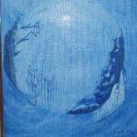 Risfjells Sameslöjd Blå tavla