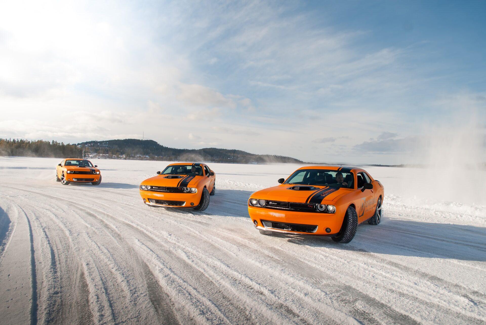 SA Event bilar på isbanan
