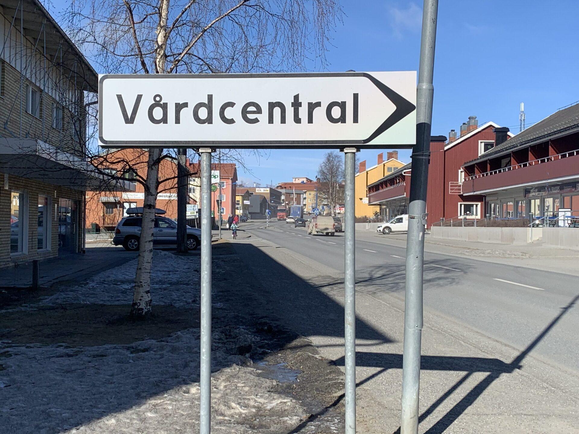 Skylt Vårdcentral