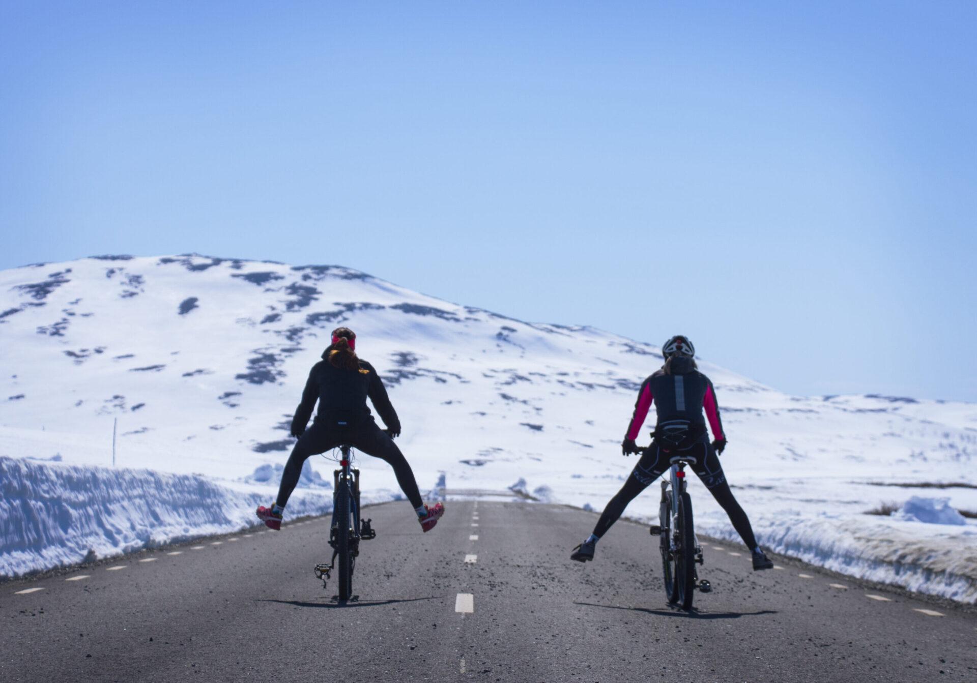Cykling kalfjäll Stekenjokk Vildmarksvägen