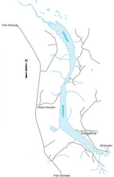 Skikkisjöns FVO fiskekarta.